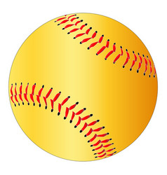 Yellow isolated softball vector