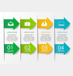Arrow infographics template vector image vector image