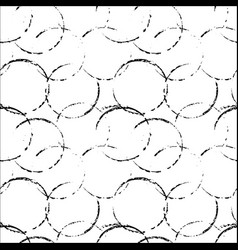 grunge seamless pattern background with circles vector image vector image