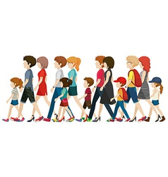 People without faces walking vector image