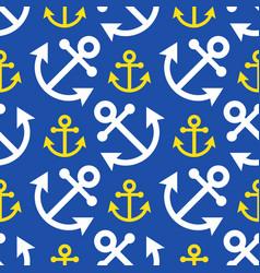seamless - white yellow anchor vector image vector image