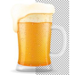 beer in mug transparent stock vector image