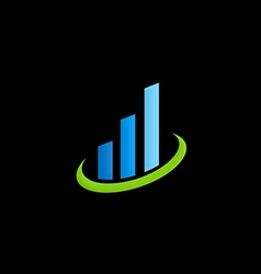 business finance chart logo vector image vector image