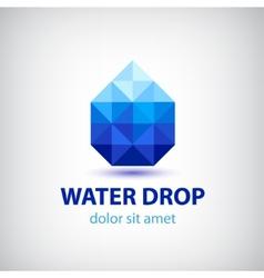 crystal modern water drop logo icon vector image
