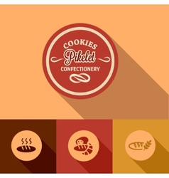 flat pikelet confectionery design vector image vector image