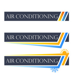 air conditioning set symbol vector image vector image