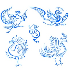 bird tattoo design vector image vector image