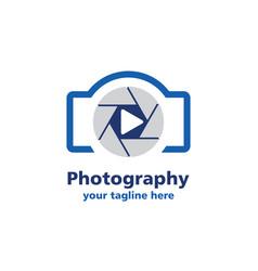 camera photography logo vector image