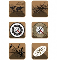 icons compass vector image vector image