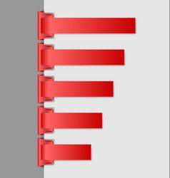 Navigation menu backgrounds vector image