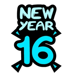 new year 2016 symbol vector image vector image
