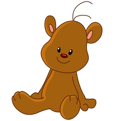 teddy bear sitting vector image