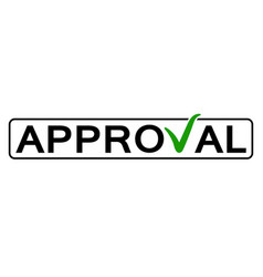 word approval with the green checkmark vector image vector image