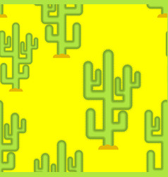 cactus in desert seamless pattern large peyote vector image