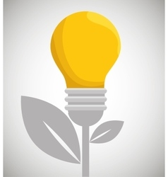 eco energy bulb concept environment vector image