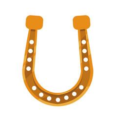 golden horseshoe icon vector image