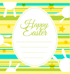 happy easter card template with colorful vector image vector image