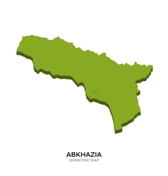 Isometric map of Abkhazia detailed vector image vector image