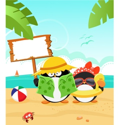 Summer Message vector image vector image