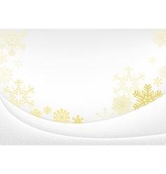 White Xmas Greeting Card vector image vector image