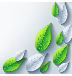 Abstract eco background with 3d leaf vector