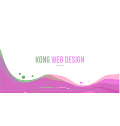 abstract header website modern and simple design vector image