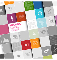 abstract squares infographic template vector image