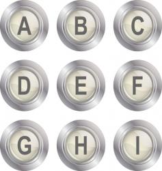 alphabet button ai vector image
