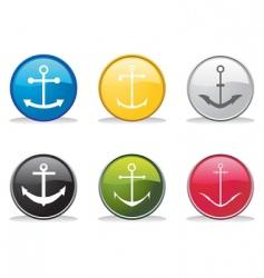 anchor buttons vector image