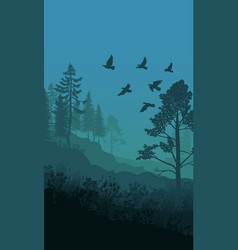 Autumn nature landscape template vector