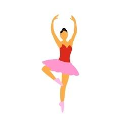 Ballerina flat icon vector