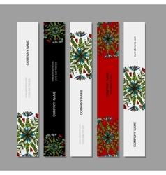 Banner set floral mandala design vector