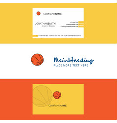 beautiful basketball logo and business card vector image