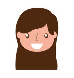 beautiful icon girl vector image