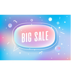 Big sale in design banner template for web vector
