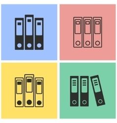Binder icon set vector image