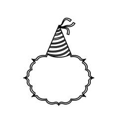 Birthday hat decoration vector