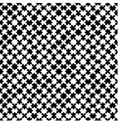 black and white seamless puzzle pattern vector image