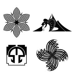 black design elements - graphic vector image