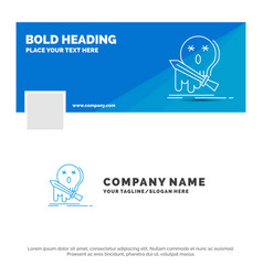 blue business logo template for death frag game vector image