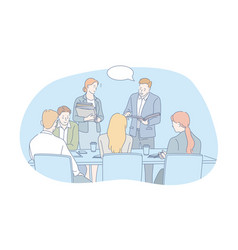 Business people teamwork internship concept vector