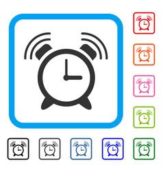 Buzzer framed icon vector