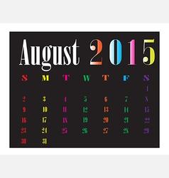 Calendar August 2015 vector