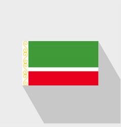 Chechen republic flag long shadow design vector