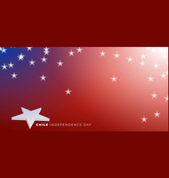 Chile independence day design with 3d star vector