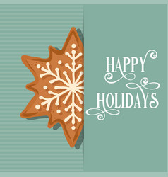 christmas card with gingerbread star vector image