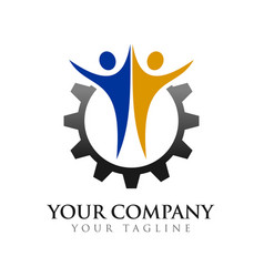 Civil partner engineering company symbol logo vector