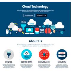 cloud technology website design vector image