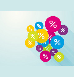 colored circle markers discount vector image