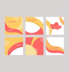 Colorful trendy design set square banner vector